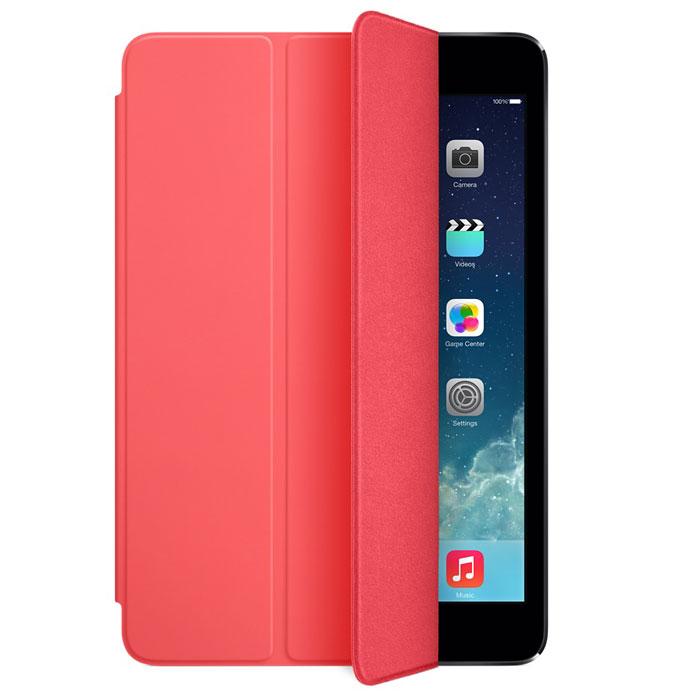 Apple iPad mini Smart Cover чехол для iPad mini Retina, PinkMF061ZM/AЛёгкая и прочная обложка Apple iPad Smart Cover полностью обновлена, чтобы соответствовать дизайну iPad mini с дисплеем Retina. Она защищает дисплей планшета, не закрывая заднюю часть алюминиевого корпуса. Поэтому Ваш iPad выглядит именно как iPad — только он лучше защищён. Обложка изготовлена из мягкого прочного полиуретана и доступна в шести ярких цветах. А её мягкая подкладка из микрофибры того же цвета помогает поддерживать экран в чистоте. Крепление обложки идеально прилегает к корпусу планшета, а магниты надёжно удерживают её. При открытии чехла-обложки iPad mini автоматически выходит из режима сна, а при закрытии моментально возвращается в режим сна. Обложка Smart Cover может служить подставкой для набора текста. Сложите её, чтобы установить iPad mini с удобным наклоном. Продуманная конструкция обложки Smart Cover также позволяет сложить её и превратить в идеальную подставку для общения в FaceTime и просмотра фильмов.