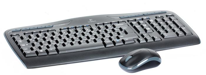 Logitech Wireless Combo MK330 клавиатура + мышь (920-003995)920-003995Logitech Wireless Combo MK330 клавиатура + мышь - решение, предоставляющее полный контроль и портативность. Для любимых занятий: 11 функциональных клавиш, обеспечивающих полный контроль и легкий доступ к избранным веб-сайтам, комфортную работу с Amazon и MSN, а также удобное управление воспроизведением музыки и фильмов. Комфорт для рук: Низкопрофильные бесшумные клавиши позволяют легко и удобно общаться с помощью мгновенных сообщений и по электронной почте, а также вводить любые тексты. Чудесная беспроводная мышь: Компактная и удобная мышь с миниатюрным наноприемником — комфорт везде, где используется компьютер.
