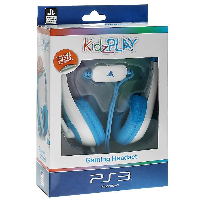 Детская игровая стерео гарнитура Kidz Play для PS3 (голубая)THR69Яркая и красочная гарнитура для юных пользователей PS3.