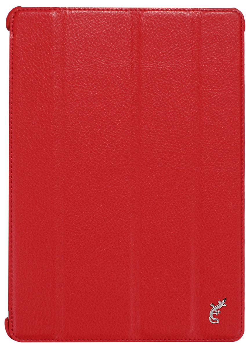 G-case Elegant чехол для iPad Air, RedGG-229G-Case Elegant - это качественный, функциональный и стильный кожаный чехол для iPad Air, который станет отличным решением для защиты Вашего планшетного компьютера от пыли, ударов и царапин. При этом он не затрудняет доступ к iPad и обеспечивает высокий высокий уровень удобства при его использовании. Сам чехол изготовлен из высококачественной кожи как снаружи, так и внутри чехла, благодаря чему iPad Air останется в первозданном виде. В открытом виде Вам будут доступны все функциональные клавиши и разъемы iPad Air. В закрытом виде чехол G-Case Elegant не помешает заряжать iPad Air, фотографировать или слушать музыку. В G-Case Elegant устройство не становится толще или тяжелее, поэтому легко поместится в сумку. Такой чехол надежно защитит Ваш iPad Air во время эксплуатации и транспортировки. Впрочем, все эти качества наверняка оценят те, кто предпочитают комфортные и качественные вещи.