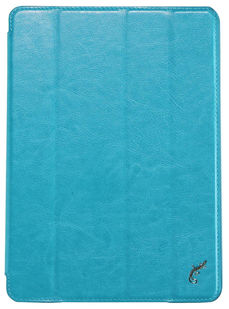 G-case Slim Premium чехол для iPad Air, BlueGG-206Чехол G-Case Slim Premium для iPad Air не стыдно одеть на сверхтонкий и легкий планшет, так как выглядит он отлично. Чехол выполнен в форм факторе чехол-обложка из высококачественной кожи и служит надежной защитой для планшет. G-Case Slim Premium для iPad Air помимо своей основной функции защиты также может выполнять функцию подставки с двумя углами наклона, делающими работу с планшетом очень комфортной и удобной. Стильный дизайн, богатая цветовая гамма, надежная защита - все это делает чехол G-Case Slim Premium идеальным аксессуаром.