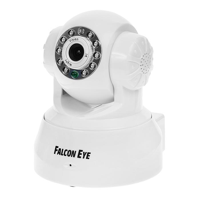 Falcon FE-MTR300, White поворотная беcпроводная камераFE-MTR300WtБеспроводная поворотная Wi-Fi-IP-камера Falcon FE-MTR300 идеально подходит для осуществления видеонаблюдения в доме, квартире, офисе и других помещениях, где есть Интернет. Данная модель дает возможность удаленного просмотра происходящего на контролируемом объекте. Управляя устройством, вы можете удаленно поворачивать камеру и наблюдать за той точкой объекта, которая интересна в данный момент времени. Данная функция возможна благодаря повороту камеры на 340° по горизонтали 90° по вертикали. Встроенные микрофон и динамик позволяет не только слушать, но и общаться с наблюдаемыми людьми. Благодаря инфракрасной подсветке существует возможность производить видеонаблюдение в темное время суток и при полном отсутствии освещения.Передача звука 2-х стороннее аудиоПоворот/наклон камерыУгол поворота камеры по горизонтали 340°, по вертикали 90°Wi-Fi IEEE 802.11b/gLAN RJ-45 (10BASE-T/100BASE-TX)Тревога5 уровней чувствительностиДействия по тревогеУведомления(снимок) на email или FTPРазграничение прав пользователейПоддержка браузеров IE 6.0 и выше, Chrome, Firefox, Safari, OperaПросмотр с мобильных устройствПоддержка iOS и Android устройств