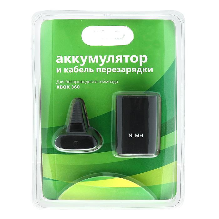 Аккумулятор и кабель перезарядки для геймпада Xbox 360BN-008Аккумулятор и кабель перезарядки предназначены для беспроводного геймпада Xbox 360.