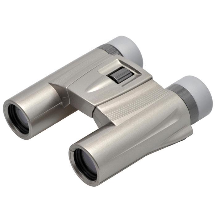 Kenko Ultra View 10x25 DH, Silver бинокль5609Все бинокли Pastel серии ultraVIEW выполнены в новом современном дизайне и представлены богатой цветовой гаммой корпусов: красный, розовый, фиолетовый, серебряный, белый, чёрный. Данная линейка биноклей выгодно отличается не только стильным внешним видом, но и многофункциональностью применения в комбинации с улучшенными оптическими характеристиками. Основные характеристики биноклей Kenko ultraVIEW 10x25 Pastel: •Суперкомпактный и лёгкий (вес 285 г), диаметр объектива 25 мм•Многослойное просветление•Roof-призма из стекла BaK-4 обеспечивает чёткое и контрастное изображение с хорошей цветопередачей •Использование экологически чистых материалов•Большое увеличение - 10 кратОсновное назначение бинокля KENKO ULTRA VIEW 10x25 DH (Silver) Бинокль KENKO ULTRA VIEW 10x25 DH (Silver) прекрасно подойдёт для проведения любительских наблюдений при достаточном уровне освещённости (дневное время суток, ранние сумерки). Вы сможете наблюдать за жизнью птиц и зверей или игрой любимой спортивной команды, обозревать окрестности или любоваться красотой природы во время прогулки или туристического путешествия. Конструктивные особенности бинокля KENKO ULTRA VIEW 10x25 DH (Silver) Бинокль KENKO ULTRA VIEW 10x25 DH (Silver) выполнен в корпусе из качественного пластика (поликарбоната), устойчив к механическим и температурным воздействиям. Полимерное покрытие корпуса (эластомер) не скользит в руках и надёжно защищает оптическую конструкцию прибора от вмятин и вредного воздействия окружающей среды. Цвет корпуса - серебристый. Использование Roof призм в конструкции прибора значительно уменьшает вес и габаритные размеры бинокля KENKO ULTRA VIEW 10x25 DH (Silver), его легко перевозить в сумке или рюкзаке, удобно держать в руках или носить на шее с помощью ремешка, входящего в комплект. Для увеличения светопропускания все линзы KENKO ULTRA VIEW 10x25 DH (Silver) имеют многослойное просветляющее покрытие, которое характеризуется низкими потерями на отражен