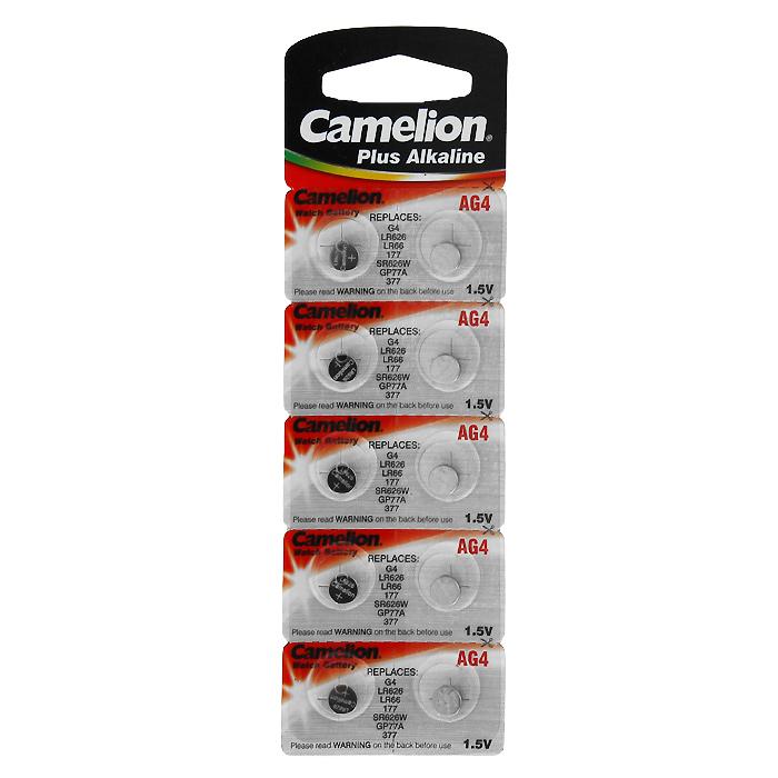 Camelion G4 BL-10 (AG4-BP10, 377A/LR626/177) батарейка для часов, 10 шт1551Дисковые щелочные батарейки Camelion G4 BL-10 (AG4-BP10) серии Alkaline применяются для питания игрушек, лазерных указок, часов.