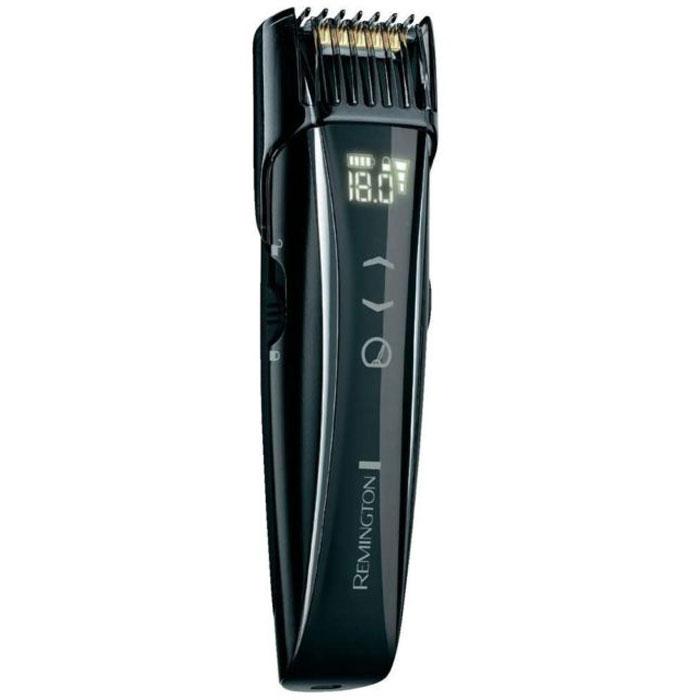 Remington MB4555 Touch Control триммер для бородыMB4555С помощью Remington MB4555 Вы сможете подстригать, профилировать и подравнивать бородку и усы, при этом благодаря специально разработанной моторизированной насадке-расческе у Вас есть возможность устанавливать длину стрижки в диапазоне от 0,4 мм до 18 мм. Шаг изменения составляет 0,1 мм, а значит можно выбрать один из 175 вариантов стрижки. Вдобавок к этому в данной модели предусмотрена возможность изменения скорости работы двигателя для наиболее удобного и комфортного бритья. Лезвия триммера имеют прочное титановое покрытие и не нуждаются в смазке, что делает уход за прибором очень простым. К тому же в комплект устройства входит щеточка для его очистки, при помощи которой Вы удалите остатки волос с насадки и ножа триммера. Главное, на что стоит обратить внимание, это сенсорное управление. Триммер MB4555 оснащен цифровым дисплеем, одним прикосновением к которому Вы можете отрегулировать длину стрижки и скорость работы двигателя. Мало того, на нем отображается уровень заряда...