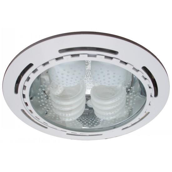 Встраиваемый светильник ARTELamp Technika A8075PL 2WHA8075PL-2WHСветильник настенно-потолочный Arte Lamp отлично впишется в интерьер вашей ванной. Светильники и люстры - предметы, без которых мы не представляем себе комфортной жизни. Сегодня функции люстры не ограничиваются освещением помещения. Она также является центральной фигурой интерьера, подчеркивает общий стиль помещения, создает уют и дарит эстетическое удовольствие. Примечание: защита от влаги и пыли IP23, с поворотными лампами, энергосберегающие лампочки в комплекте.