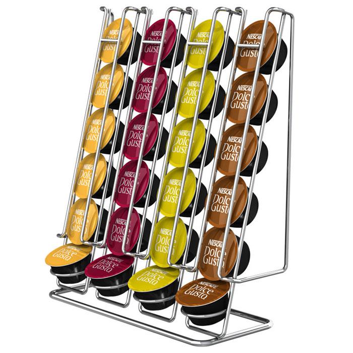 Tavola Swiss Linea держатель на 24 капсулы Dolce Gusto2790000026Tavola Swiss Linea, держатель для капсул Dolce Gusto, изготовлен из хромированной стали и является идеальным аксессуаром для хранения до 24 капсул (4 ряда по 6 капсул). Капсулы вставляются в направляющие, и их легко достать, когда они вам необходимы для приготовления кофе. Держатель имеет стильный дизайн и прекрасно впишется в любой интерьер.