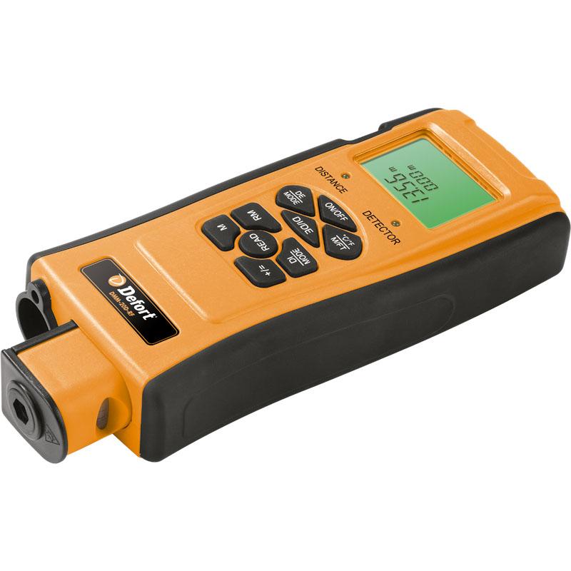 Мультитестер Defort DMM-20D-RF98293777Мультитестер DMM-20D-RF предназначен для поиска скрытых в стенах инженерных коммуникаций, таких как: водопроводные трубы (пластиковые, металлопластиковые, медные, стальные), стояков отопления, стальных и деревянных каркасов стен, электропроводки. В данной модели есть также функция дальномера и встроенная лазерная направляющая. Дисплей с подсветкой; 4 функции детектора; Функция дальномера до 16 м; Встроенная лазерная направляющая; Глубина сканирования: электрические провода - 50 мм, металл - 40 мм, дерево - 19 мм; Тип аккумуляторной батареи: 9 В (6LR61, 6F22); Класс лазера: II; Рабочая температура: 0-50 С°.