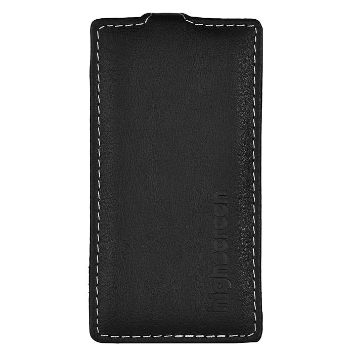 Highscreen Flip Case оригинальный чехол для Zera F, Black22031Чехол с откидной крышкой Highscreen Flip Case для Zera F надежно защищает ваш смартфон от внешних воздействий, грязи, пыли, брызг. Он также поможет при ударах и падениях, не позволив образоваться на корпусе царапинам и потертостям. Чехол обеспечивает свободный доступ ко всем функциональным кнопкам смартфона и камере.