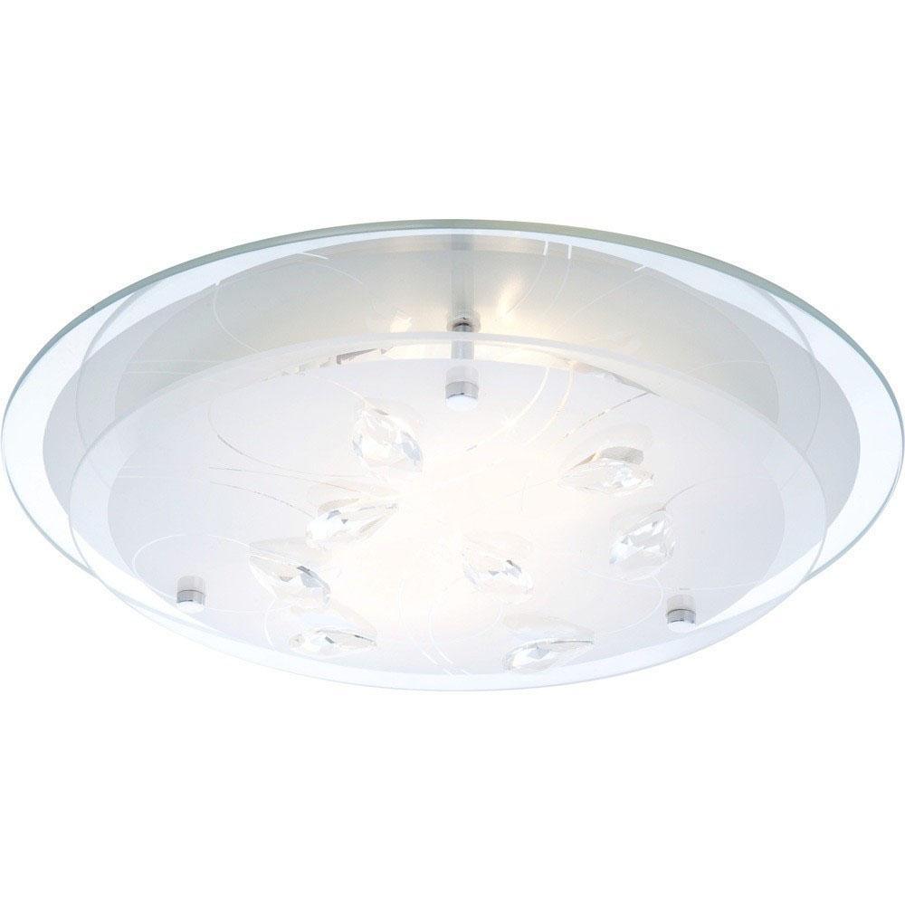 40409-2 Потолочный светильник BRENDA40409-22хE27 40W Материал: Арматура: Металл/Плафон: Стекло Цвет: Арматура: Серебристый/Плафон: Белый Размер: 33,5х33,5х8,5