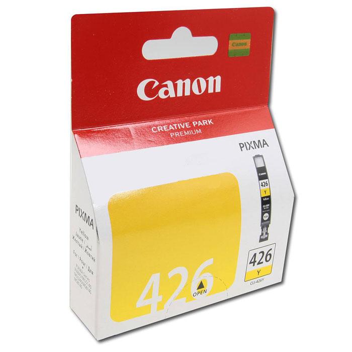 Canon CLI-426Y картридж, Yellow4559B001Картридж с чернилами Canon CLI-426 предназначен для струйных принтеров Canon. Ресурс чернильниц сильно зависит от содержания печатаемого документа и установленного качества печати.