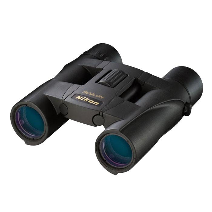 Nikon Aculon A30 10x25, Black бинокльBAA808SAБинокли Nikon Aculon A30 10x25 позволяют постоянно находиться в центре событий. Следите за спортивными событиями через объектив диаметром 25 мм и линзы с многослойным покрытием, дающие большое, яркое и четкое изображение.Бинокли Nikon Aculon A30 10x25 настолько компактные и легкие, что их удобно носить с собой повсюду. Защитное резиновое покрытие обеспечивает удобный и надежный захват. Большой вынос точки визирования значительно повышает удовольствие от наблюдения. Оптические элементы из экологичного стекла Nikon не содержат свинца и мышьяка.Многослойное покрытие линзРезиновое покрытие обеспечивает удобный захватВынос точки визирования 13 ммВидимое поле зрения 47,2°