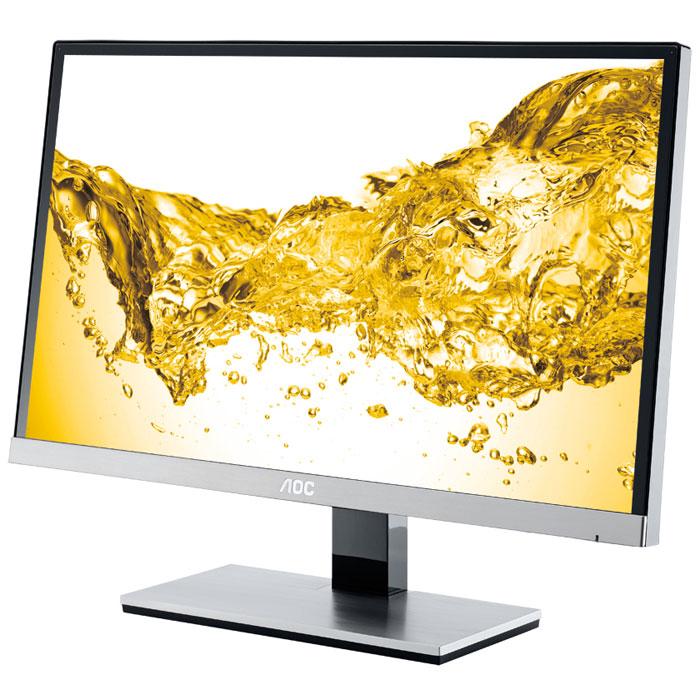 AOC I2267FW/01, Silver Black мониторI2267FW/01Монитор «два-в-одном» AOC I2267FW/01 великолепно подходит как для работы с офисными приложениями, так и для увлекательных домашних развлечений. Этот Full HD дисплей высокого класса, построенный на основе инновационной IPS-матрицы, не только имеет стильный дизайн, но и отличается высоким качеством изображения. Эта универсальная модель с диагональю экрана 54,6 см (21,5) оснащена широким спектром интерфейсов и создана с использованием современных дисплейных технологий. IPS-матрица монитора имеет чрезвычайно широкие углы обзора, вплоть до 178° (по горизонтали и вертикали), что позволяет комфортно наслаждаться высочайшим качеством его изображения сразу нескольким пользователям. А высокий уровень контрастности и яркости позволяет получить максимум удовольствия от просмотра кинофильмов. И еще одно достоинство модели: светодиодная подсветка, которая помогает снизить затраты на электроэнергию и делает монитор экологически безопасным.