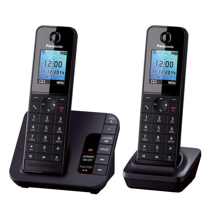 Panasonic KX-TGH222 RUB, Black DECT-телефон KX-TGH222RUB