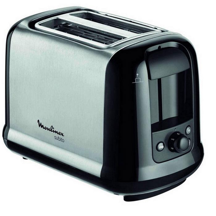 Moulinex LT260830 Subito III тостерLT260830Тостер Moulinex LT260830 на 2 отделения. Имеет возможность автоцентрирования тостов, 2 режима работы - подогрев и разморозка.