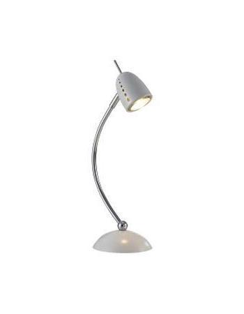 Настольный светильник MarkSLojd TOBO 413712413712413712 Настольная лампа, TOBO, белый+хром, GU10 1*50WW