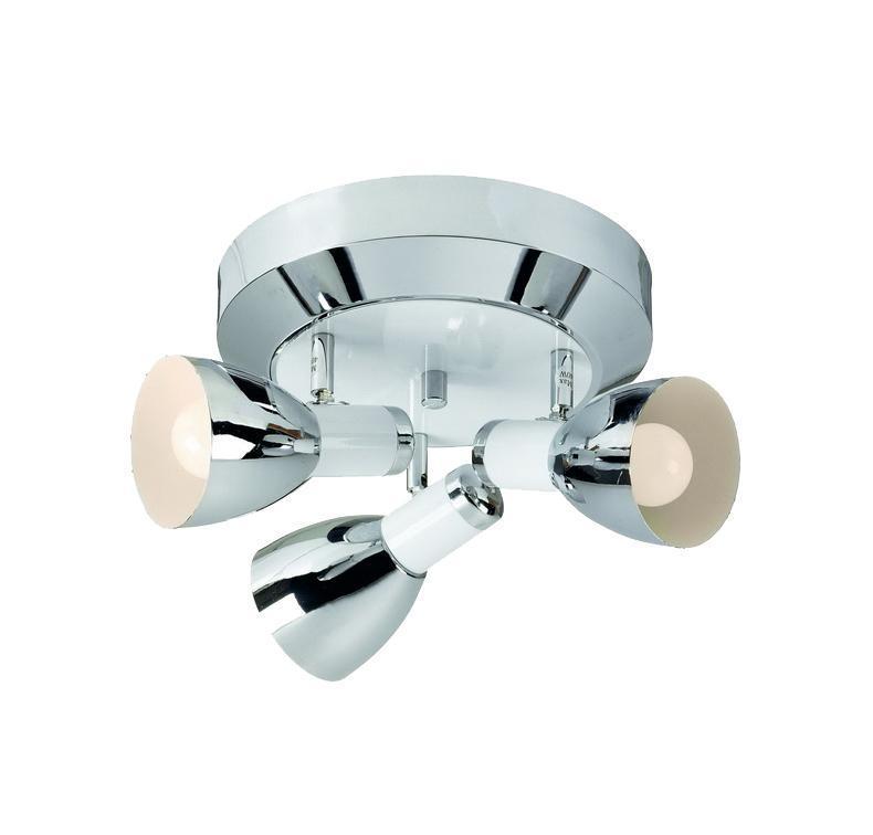 Настенно-потолочный светильник MarkSLojd BORNHOLM 102318102318102318 Светильник настенно-потолочный, BORNHOLM, хром-белый, E14 3*40WW