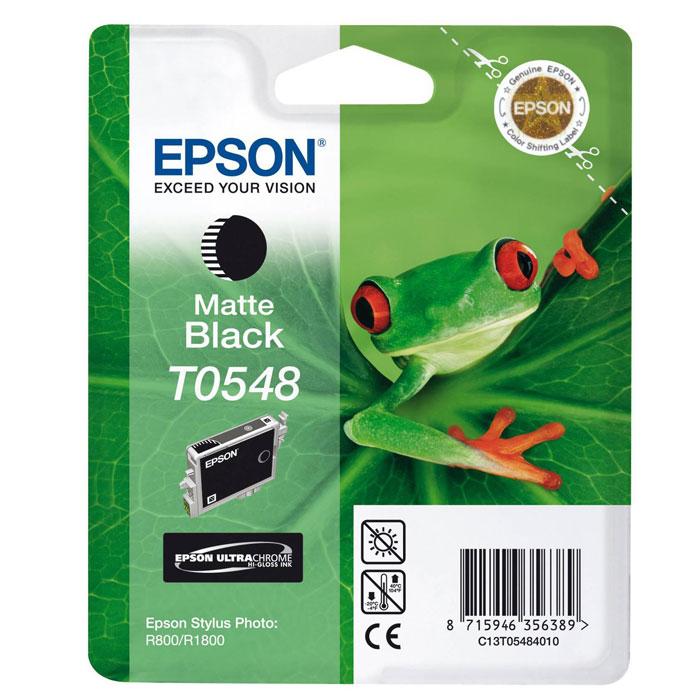 Epson T0548 (C13T05484010), Matte Black картридж для Stylus Photo R800/R1800C13T05484010Картридж Epson T054 с цветными чернилами для струйной печати. Качество устройств Epson и расходных материалов гарантируют четкую печать и устойчивость к выцветанию. Картридж прост в установке и использовании.