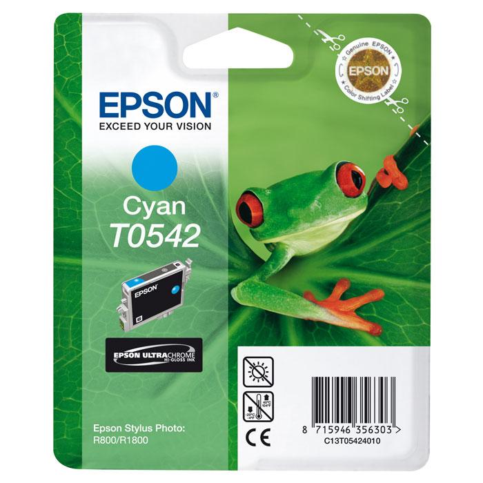 Epson T0542 (C13T05424010), Cyan картридж для Stylus Photo R800/R1800C13T05424010Картридж Epson T054 с цветными чернилами для струйной печати. Качество устройств Epson и расходных материалов гарантируют четкую печать и устойчивость к выцветанию. Картридж прост в установке и использовании.