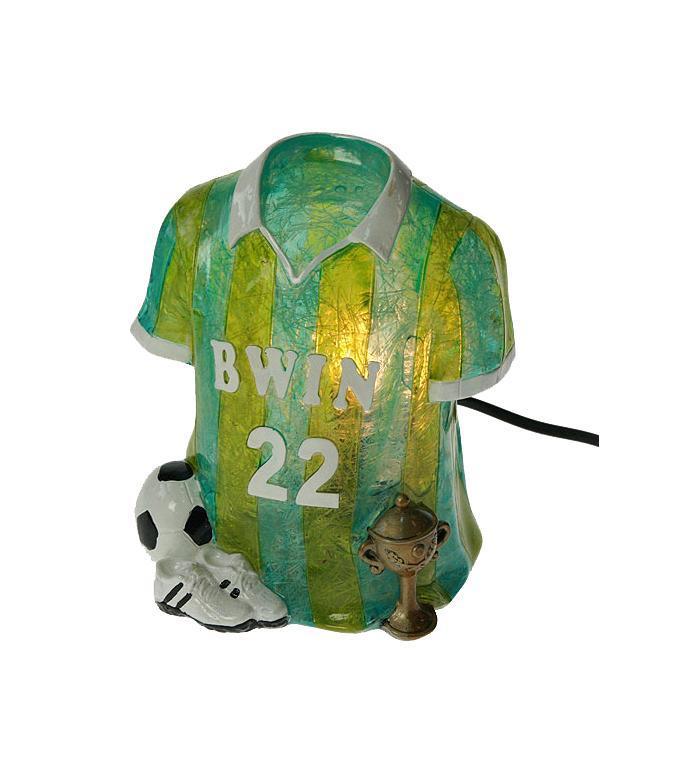 Декоративный светильник Win Max Ent. Футбол 15*11*18 см.27060Светильник Футбол 15*11*18 см Материал: полистоун, эл. металла; цвет: зелёный; размеры: 15*11*18