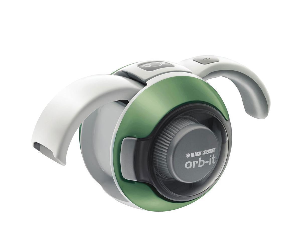 Black&Decker ORB48BGN, Green аккумуляторный пылесосORB48BGN GreenРучной пылесос Black&Decker Orb-it ORB48 используется для выполнения легкой сухой уборки. Устройство имеет оригинальный дизайн в виде сферы и раскладывающиеся рукоятку и сопло. Данный прибор предназначен только для бытового использования