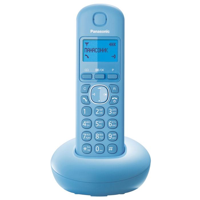 Panasonic KX-TGB210RUF, Light Blue DECT-телефонKX-TGB210RUFPanasonic KX-TGB210RU - компактный и стильный DECT-телефон в различных цветовых вариантах корпуса. Устройство полностью русифицировано, а также поддерживает Caller ID и телефонный справочник, в который можно внести до 50 записей. Журнал вызовов Caller ID отражает 50 последних вызовов. Телефон поддерживает связь на расстоянии до 50 метров от базы в помещении. Аппарат может использоваться не только для звонков, но и в качестве будильника, который можно настроить в ежедневном или однократном режиме, а при желании воспользоваться функцией повтора сигнала.