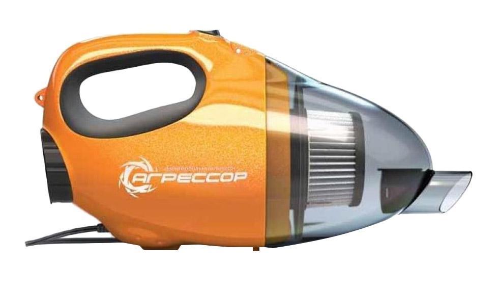 Автомобильный пылесос Агрессор AGR-110H, с функцией обдува, 8 насадок, 12В, 100ВтAGR-110H 2in1В устройстве используется высокоэффективный фильтр «Хепа». Благодаря специальной форме поверхности, он закручивает поток всасываемого воздуха в спираль. Такая конструктивная особенность повышает качество очистки и обеспечивает стабильную силу всасывания. Гофрированная конструкция фильтра увеличивает его рабочую поверхность и воздухопроницаемость, а высокая плотность фильтрующего материала позволяет улавливать даже самые мелкие частицы. Питание пылесоса осуществляется от прикуривателя автомобиля. В комплекте с изделием идут 2 удлинителя, 3 насадки и комплект насадок разного диаметра для обдува, которые позволяют выбрать нужную силу потока выдуваемого воздуха. Многофункциональный автомобильный пылесос AGR-110H из серии «Агрессор» обладает возможностью воздушного обдува. Это позволяет удалять грязь и пыль не только засасыванием, но и сдуванием, что особенно эффективно при очистке поверхностей сложной конфигурации.