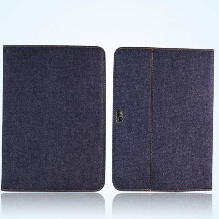 IT Baggage Jeans чехол для Samsung Galaxy Note 10.1 N8000, Black BlueITSSGN108-3Чехол IT Baggage Jeans для Samsung Galaxy Note 10.1 N8000 – удобное приспособление, позволяющее не только предохранить корпус устройства от царапин и быстрого износа, но и создающее комфорт при чтении и просмотре фильмов. Основа чехла имеет специальную рамку, надежно удерживающую планшет внутри. Крышка его выполнена из бархатистого материала, который обеспечивает деликатную защиту дисплея. Кроме того, на ней имеется несколько граней, с помощью которых плоскость может изгибаться, превращаясь в удобную подставку. Чехол IT Baggage – это современный подход к оптимизации условий для комфортного отдыха и работы.