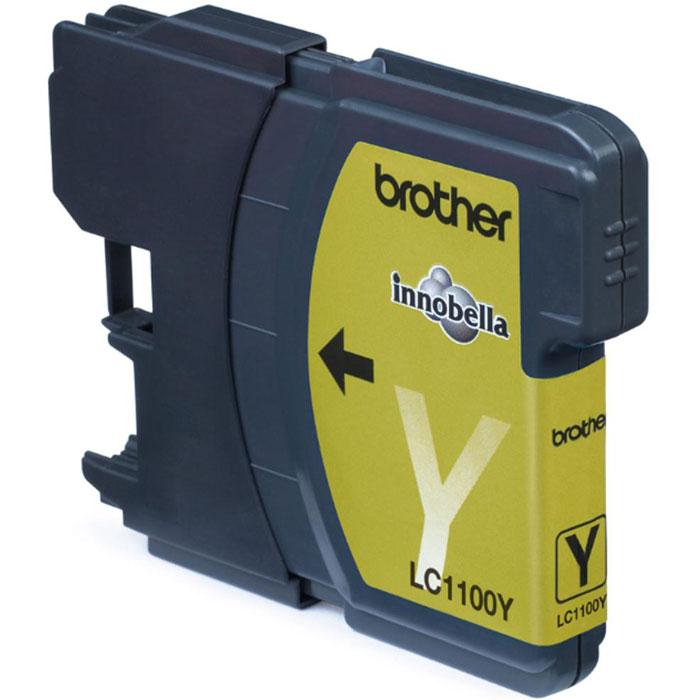 Brother LC1100Y, Yellow струйный картридж для DCP-385C/MFC-990CW/DCP-6690CWLC1100YКартридж с чернилами Brother LC1100 для струйных МФУ Brother.