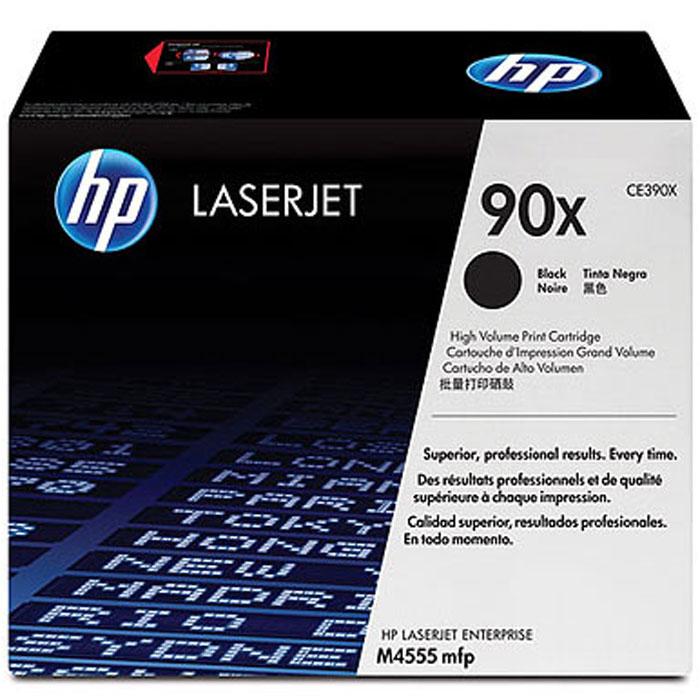 HP CE390X (90X), Black картридж тонерCE390XИспользуйте картриджи HP CE390X (90X) LaserJet для печати документов с высоким качеством и для повышения