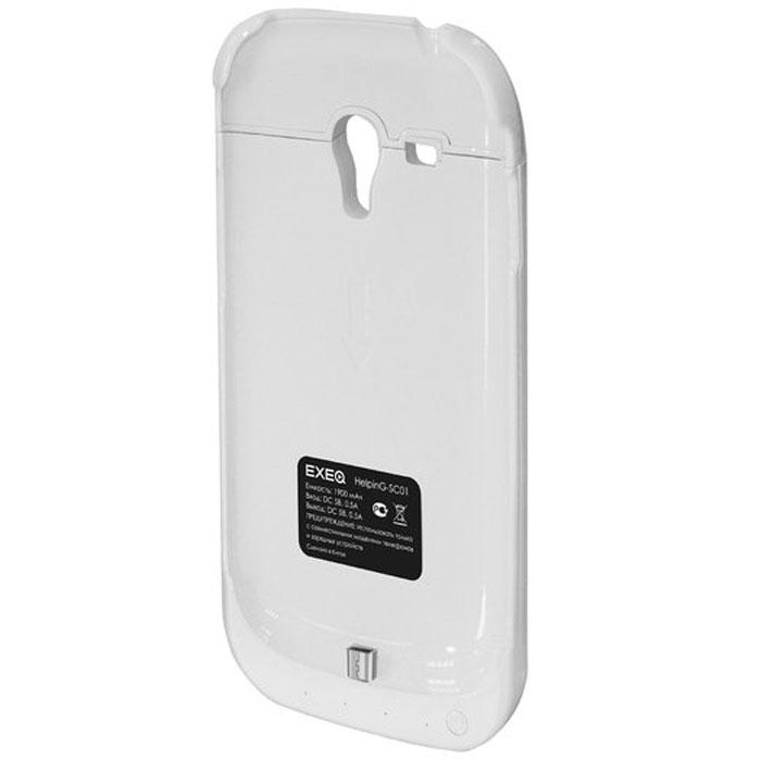 EXEQ HelpinG-SC01 чехол-аккумулятор для Samsung Galaxy S3 mini, White (1900 мАч, клип-кейс)HelpinG-SC01 WHExeq HelpinG-SС01 – компактный чехол-аккумулятор для Samsung Galaxy S3 Mini. Дополнительный аккумулятор позволит повысить работоспособность вашего смартфона как минимум вдвое. Защитный чехол Exeq HelpinG-SС01 обеспечит надежную защиту смартфона от царапин, острых предметов и прочих внешних воздействий. Компактные размеры чехла и лаконичный дизайн позволят не только удобно и быстро поместить смартфон в чехол, но и совсем незначительно увеличат размеры и вес самого смартфона. Exeq HelpinG-SС01 станет просто великолепным аксессуаром для активных пользователей Samsung Galaxy S3 Mini, а также для тех, кто много времени проводит в дороге или собирается на отдых. Зарядка чехла-аккумулятора происходит от зарядного устройства телефона, при этом аппарат из чехла доставать не нужно. Достаточно просто подсоединить зарядное к чехлу и зарядка начнется автоматически. Для зарядки телефона необходимо подсоединить зарядное устройство к чехлу и нажать на кнопку питания на чехле. Аналогично...