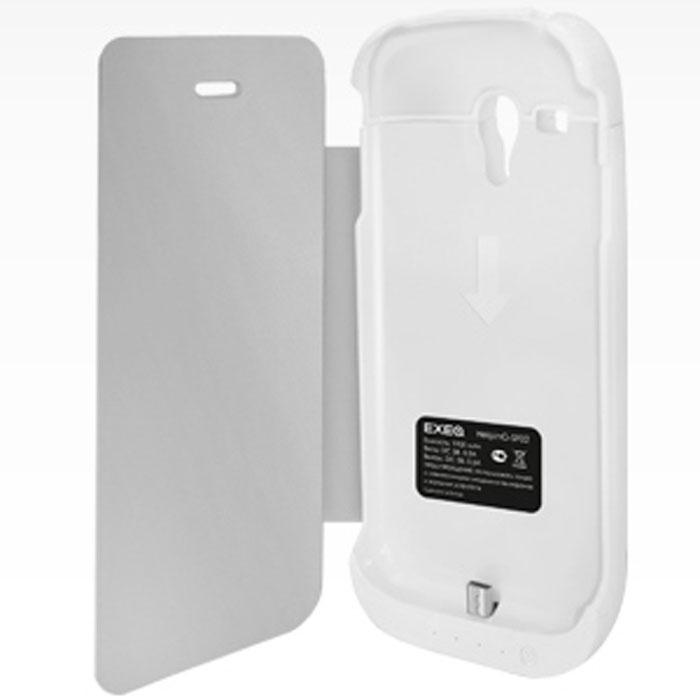 EXEQ HelpinG-SF02 чехол-аккумулятор для Samsung Galaxy S3 mini, White (1900 мАч, флип-кейс)HelpinG-SF02 WHExeq HelpinG-SF02 – уникальное устройство, удачно сочетающее в себе компактный и надежный пластиковый чехол и дополнительную батарею для Samsung Galaxy S3 Mini. Как чехол Exeq HelpinG-SF02 обеспечит надежную защиту вашему смартфону даже при самом активном использовании – чехол идеально повторяет дизайн телефона и надежно закрывает практически все самые «чувствительные» места телефона. Как дополнительная батарея Exeq HelpinG-SF02 способен увеличить время работы смартфона в два раза благодаря встроенному аккумулятору. Наслаждайтесь музыкой, видео, интернет-серфингом и длительными разговорами на вашем смартфоне – с Exeq HelpinG-SF02 ваш смартфон сможет в два раза больше! Зарядка чехла-аккумулятора Exeq HelpinG-SF02 происходит от зарядного устройства телефона, причем заряжать оба устройства можно не извлекая телефон из чехла. Так для зарядки телефона необходимо подсоединить зарядное устройства к чехлу и нажать кнопку питания на чехле, а для зарядки чехла необходимо просто...