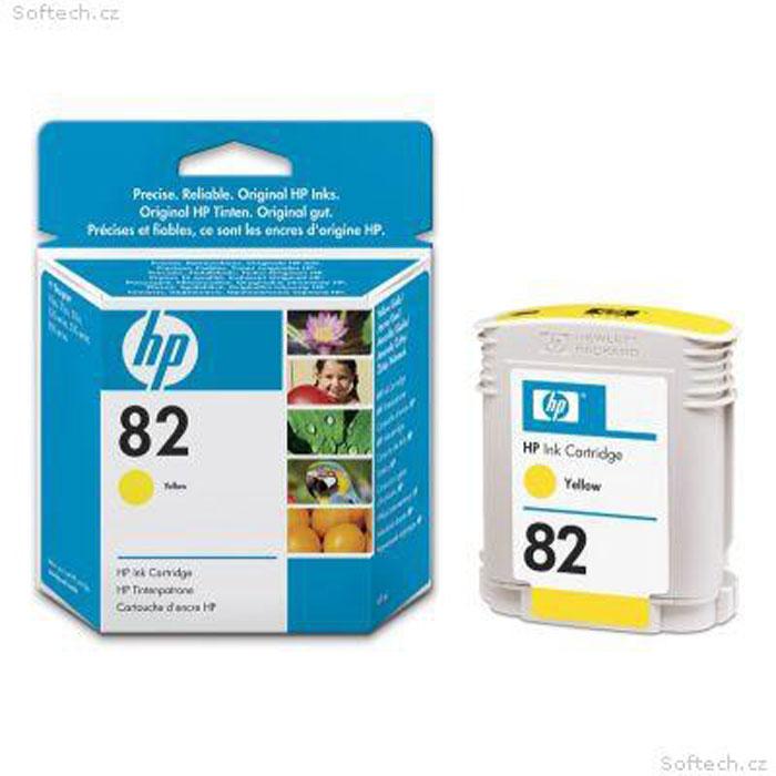 HP C4913A (82), yellowC4913AКартридж HP C4913A с чернилами для печати ярких цветных документов.