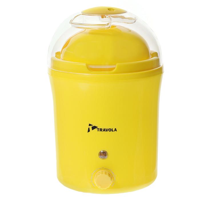 Travola MD-1000S, Yellow йогуртница с таймеромMD-1000SУстройство для приготовления йогуртов Travola MD-1000S. С его помощью Вы сможете приготовить полезный для здоровья кисломолочный продукт. Йогуртница оснащена таймером на 12 часов со звуковым сигналом окончания процесса приготовления. Световой индикатор Питание от сети 220В Инструкция по применению: - Перед использованием вымойте чашу и крышку в теплой воде с небольшим добавлением моющего средства. Высушите. - Для приготовления йогурта Вам понадобится 1литр молока и обезжиренный йогурт. -Залейте в миску баночку йогурта и молоко. Взбейте миксером. Если Вы слегка подогреете молоко, процесс приготовления йогурта получится быстрее. - Залейте полученную смесь в чашу. - Закройте крышкой. - Включите йогуртницу в сеть. - Через 5-10 часов отключите йогуртницу от сети. - Поставьте чашу в холодильник на 1-2 часа для охлаждения. После охлаждения йогурт готов к употреблению. - После подключения йогуртницы к...