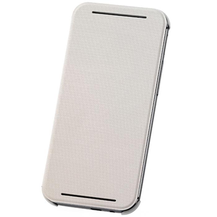 HTC HC V980 чехол для One E8 (Ace), White22339Жесткий чехол HTC HC V980 для смартфона One E8 Dual Sim. Чехол изготовлен из пластика с отгибающейся крышкой, с магнитом для автовключения экрана.
