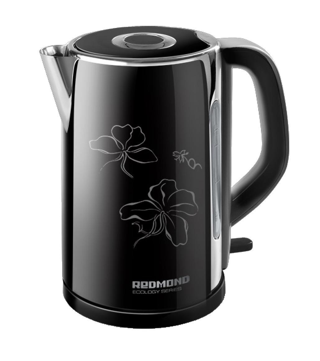 Redmond RK-M131, Black электрический чайникRK-M 131 черныйRedmond RK-M - это современный электрический чайник, который отличается простотой использования и непревзойденной надежностью. Он имеет индикатор уровня воды, который позволяет контролировать его объем. Тип нагревательного элемента - закрытая спираль. Благодаря этому значительно сокращается образование накипи, что продлевает срок службы чайника, а так же обеспечивает его легкую очистку. Пользоваться данным электрочайником абсолютно безопасно. Блокировка крышки препятствует открытию работающего чайника.