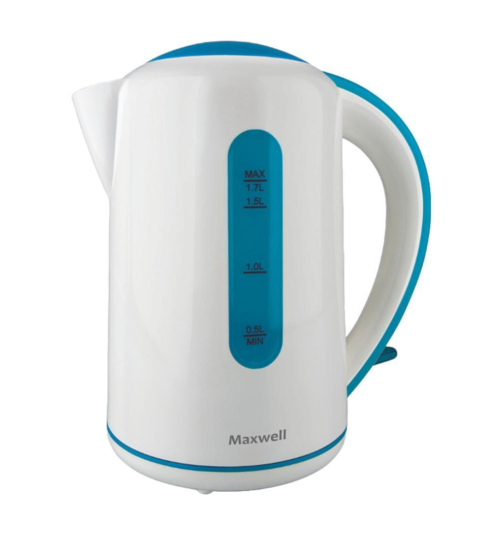 Maxwell MW-1028, BlueMW-1028, BlueЭлектрический чайник Maxwell MW-1028 позволяет вскипятить воду за короткое время. MW-1028 обладает привлекательным дизайном, оснащен индикатором уровня воды. Имеет многоуровневую защиту: автоматическое отключение при закипании и отключение при недостаточном количестве воды.