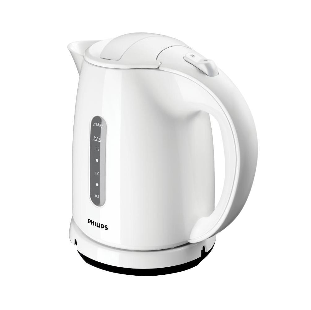 Philips HD4646/00HD4646/00Катушка для удобного хранения шнураШнур оборачивается вокруг основания, что позволяет легко разместить чайник на кухне. Плоский нагревательный элемент для быстрого кипяченияВстроенный нагревательный элемент из нержавеющей стали обеспечивает быстрое кипячение и простую очистку. Четырехкомпонентная система безопасностиЧетырехкомпонентная система безопасности для предотвращения короткого замыкания и выкипания воды с функцией автовыключения после закипания воды или снятия с основания. Фильтр от накипи обеспечивает чистоту воды и чайника. Беспроводная подставка с поворотом на 360 ° для удобства использования. Широко открывающаяся откидная крышка для удобного наполнения и очистки исключает контакт с паром. Индикаторы уровня воды по обеим сторонам электрического чайника Philips будут удобны и для правшей, и для левшей. Наполнить чайник можно через носик, или открыв крышку.