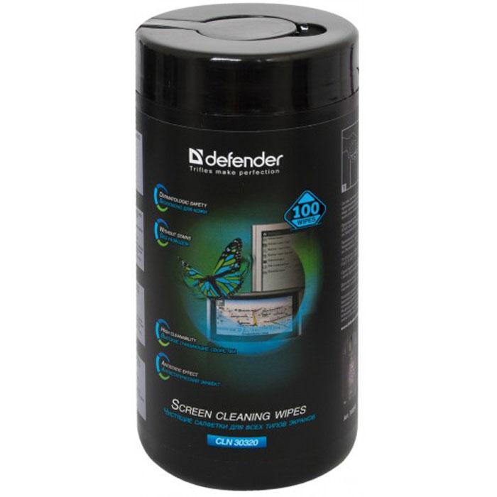 Defender CLN30320 салфетки чистящие для экранов в тубе (100 шт.)