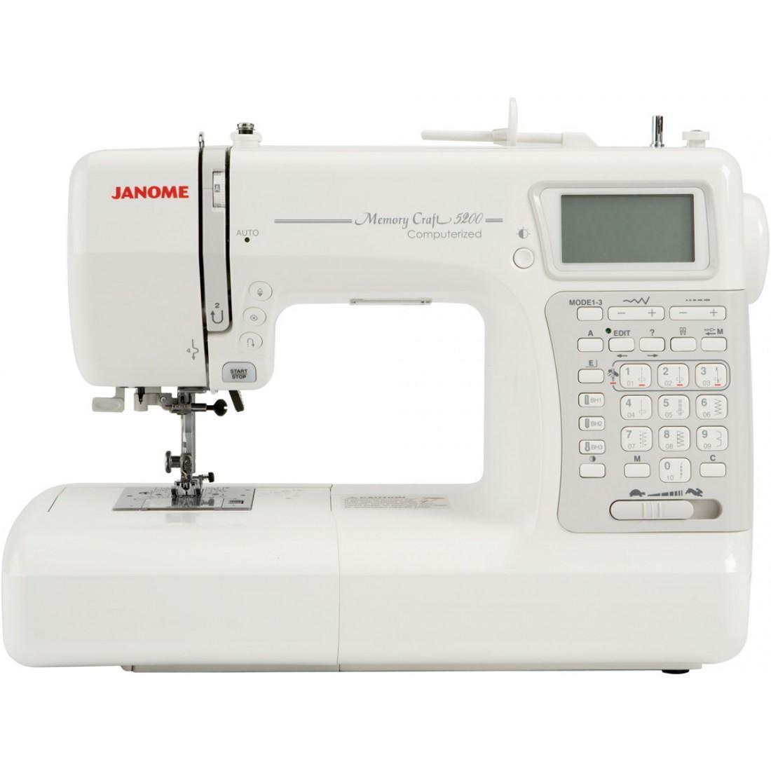 Janome Memory Craft 5200 HC, White швейная машина  janome horizon memory craft 8200 qc