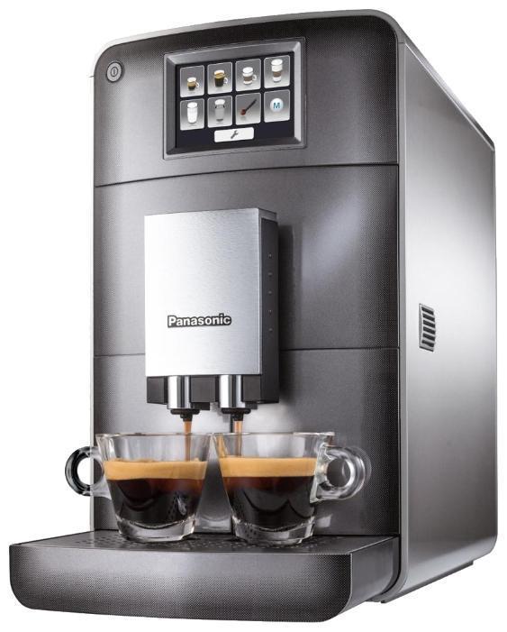 Panasonic NC-ZA1HTQ кофемашинаNC-ZA1HTQАвтоматическая кофемашина Panasonic NC-ZA1HTQ. Полностью автоматическое приготовление различных рецептов кофе: От крепкого эспрессо до сливочного капучино и американо. Всего одним нажатием Вы получаете идеальное сочетание свежемолотого кофе, вспененного молока и горячей воды! Настоящий вкус без лишней усилий. От компании Panasonic — для истинных ценителей кофе. Компактные размеры, все элементы управления на передней панели: Кофемашина Panasonic NC-ZA1HTQ имеет выдвижной каплесборник. Удобная конструкция позволяет легко извлекать все компоненты (резервуар для воды, контейнер для использованного кофе и блок заваривания) благодаря фронтальной загрузке. Гладкая и ровная тыльная сторона агрегата обеспечивает максимальную экономию места при расположении у стены. Кофемашина оснащена сенсорным цветным LED дисплеем управления, который позволяет готовить действительно вкусный кофе. Кофемолка с регулировкой тонкости помола: Для...