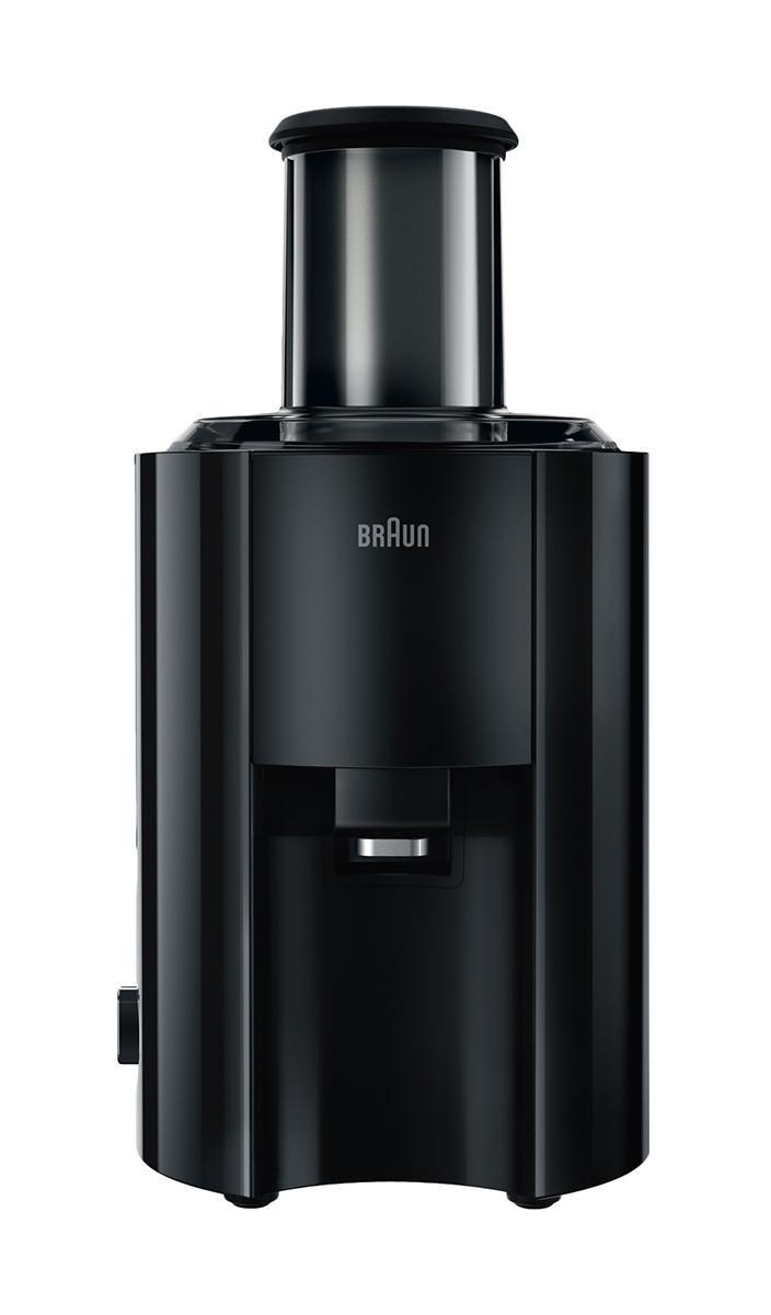 Braun J300 соковыжималкаJ 300Корпус этой соковыжималки сделан из глянцевой пластмассы с вставками из нержавеющей стали, что не мешает ей быть надежной несмотря на свой элегантный дизайн и компактность. В этой соковыжималке идеально сочетаются красота форм и функциональность, дизайн и отличные рабочие характеристики, и все это выражается в точной продуманности каждой линии, каждой детали. Особая форма носика с системой Антикапля, форма контейнера для мякоти придают этой соковыжималке обтекаемую идеальность. Функция Антикапля имеет уникальную систему активации – просто нажмите кнопку и система будет активирована, и больше нет надобности следить за носиком. Носик из нержавеющей стали, предотвращающий разбрызгивание. Форма носика из нержавеющей стали предотвращает разбрызгивание и позволяет соку попадать прямо в стакан. Эргономичный большой контейнер для мякоти (2л) легко снимать благодаря его форме, адаптированной к руке.