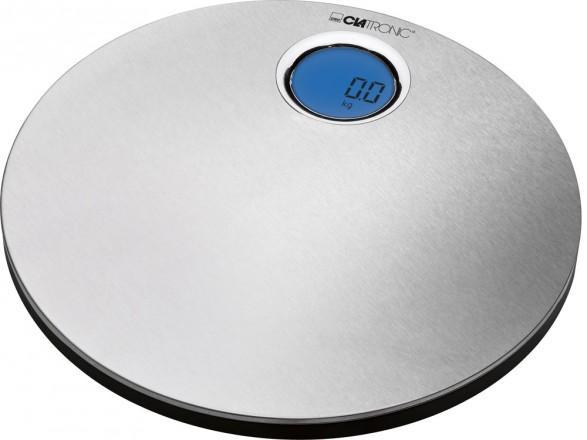 Clatronic PW 3370 напольные весыPW 3370Напольные электронные весы PW 3370 от немецкого производителя Clatronic помогут вам контролировать свой вес без лишних хлопот. Также данные весы помогут вам при взвешивании вещей до 150 кг. Напольные весы модели 3370 PW имеют жидкокристаллический дисплей, который имеет подсветку синего цвета. Весы фирмы Clatronic замерят вес любого предмета свыше 2,5 кг с точностью до 100 грамм. Но кроме этого, вы можете выбрать любую для вас удобную единицу измерения. Для того, чтобы сэкономить заряд батарей напольных электронных весов Clatronic 3370 PW, их оборудовали функцией автоматического отключения. Благодаря этой функции, работа с весами будет совершенно удобной. Что касается питания весов данной модели, то для этого достаточно всего 3 батереек AAA.