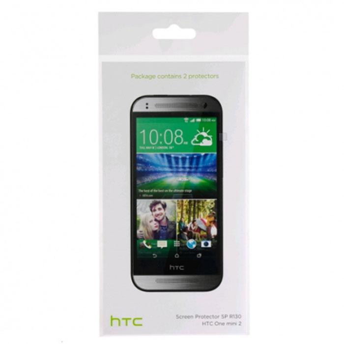 HTC SP R130 защитная пленка для One mini 222409Оригинальная защитная пленка для экрана смартфона HTC One mini 2. Благодаря использованию высококачественного материала пленка легко наклеивается, плотно прилегает, имеет высокую прозрачность и устойчивость к механическим воздействиям. Потребительские свойства и эргономика сенсорного экрана при этом не ухудшаются. В комплект входят 2 пленки.