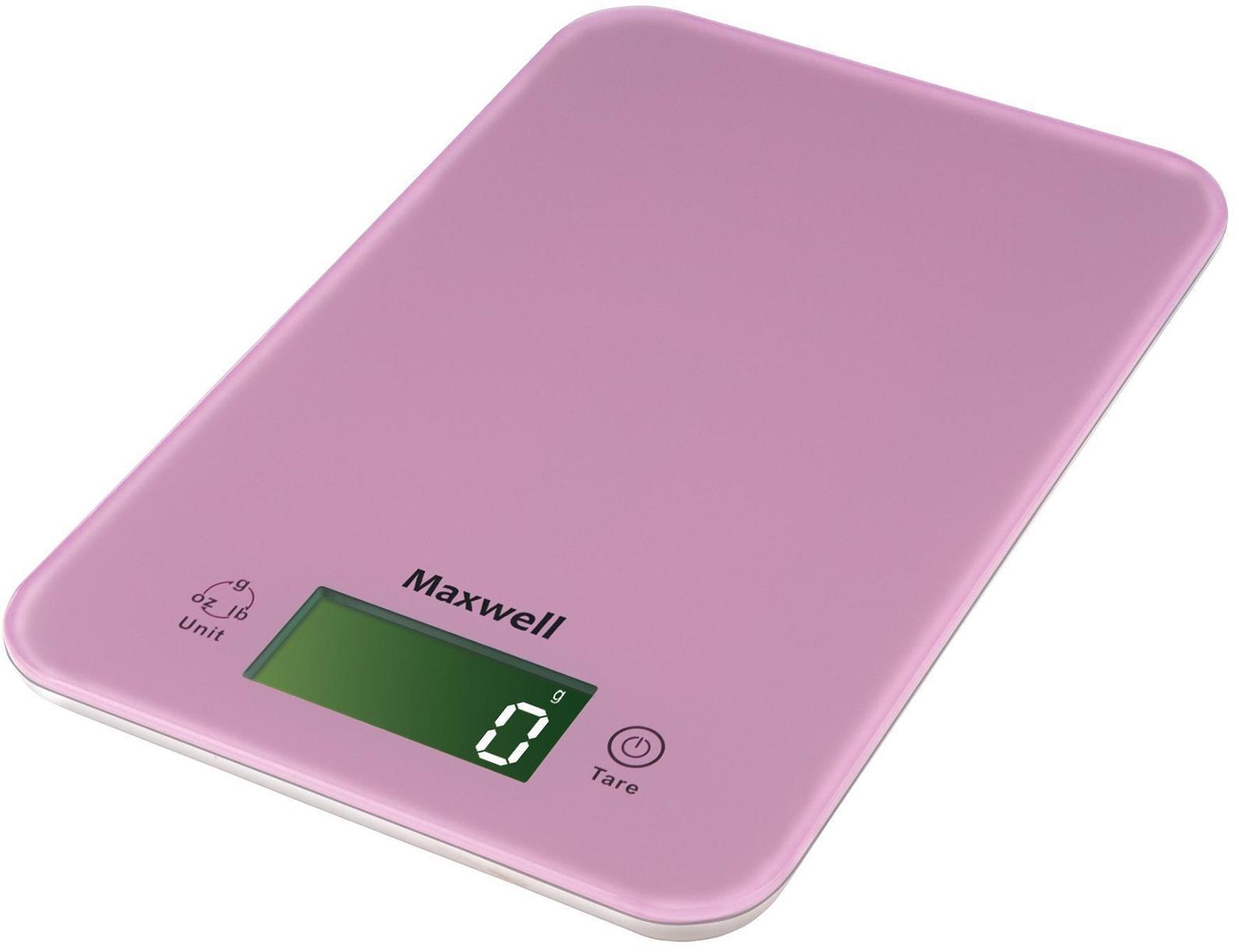 Maxwell MW-1456, Pink весы кухонные