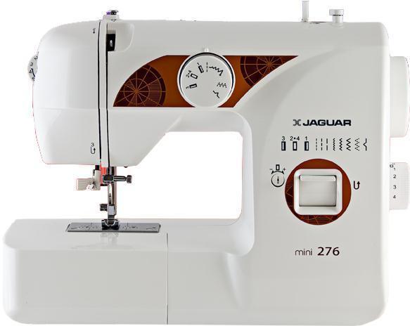 Jaguar 276, mini276 miniЭлектромеханическая швейная машина Jaguar Mini 276 – наилучший вариант для новичков и отличный вариант в качестве подарка. Даже ребенок сможет быстро освоить это устройство. Несмотря на небольшой размер, малютка отлично справляется с большинством тканей и выполняет все самые необходимые рабочие строчки. Длина и ширина стежков регулируется на ваше усмотрение. Благодаря светодиодной подсветке можно работать и в плохо освещенном помещении, не боясь испортить глаза. Автоматический нитевдеватель избавит вас от необходимости целиться ниткой в игольное ушко.