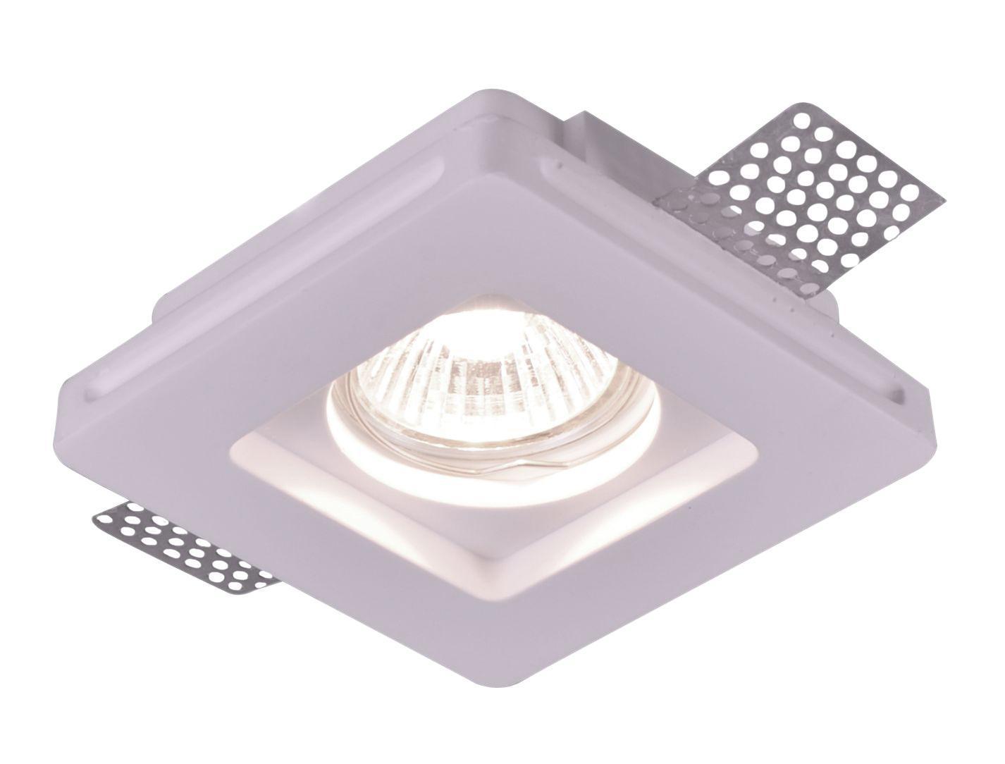 A9214PL-1WH INVISIBLE Встраиваемый светильникA9214PL-1WH1xGU10x35W; Светильник можно красить