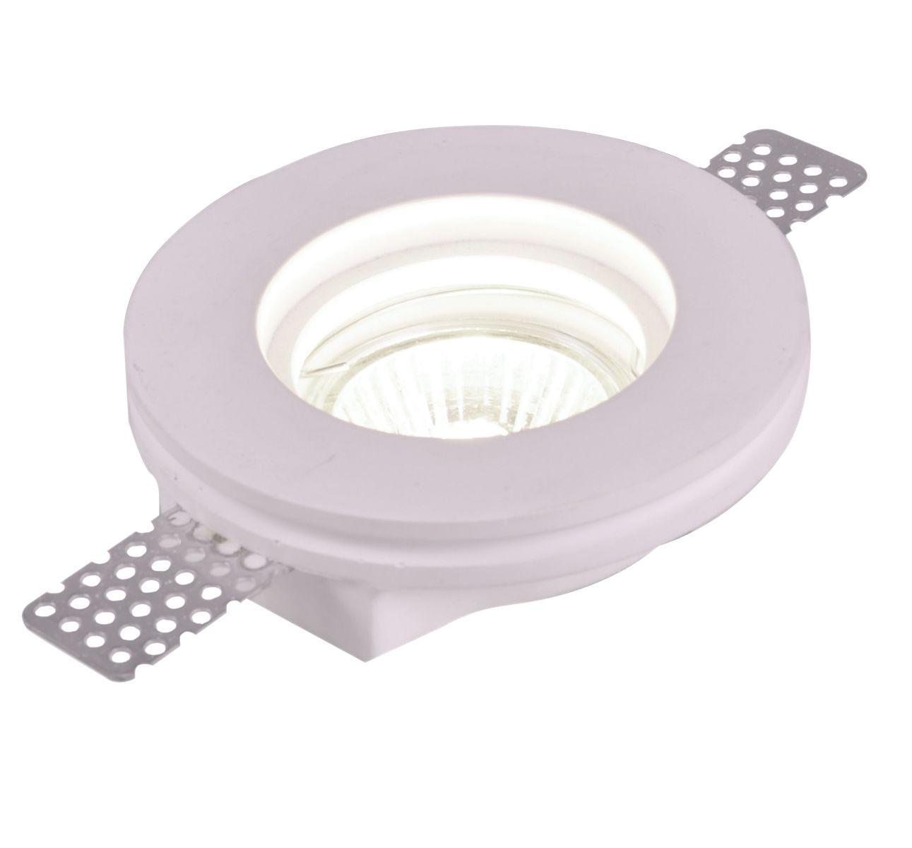 A9210PL-1WH INVISIBLE Встраиваемый светильникA9210PL-1WH1xGU10x35W; Светильник можно красить Материал: Арматура: ГипсРазмер: 100x100x24Цвет: Белый