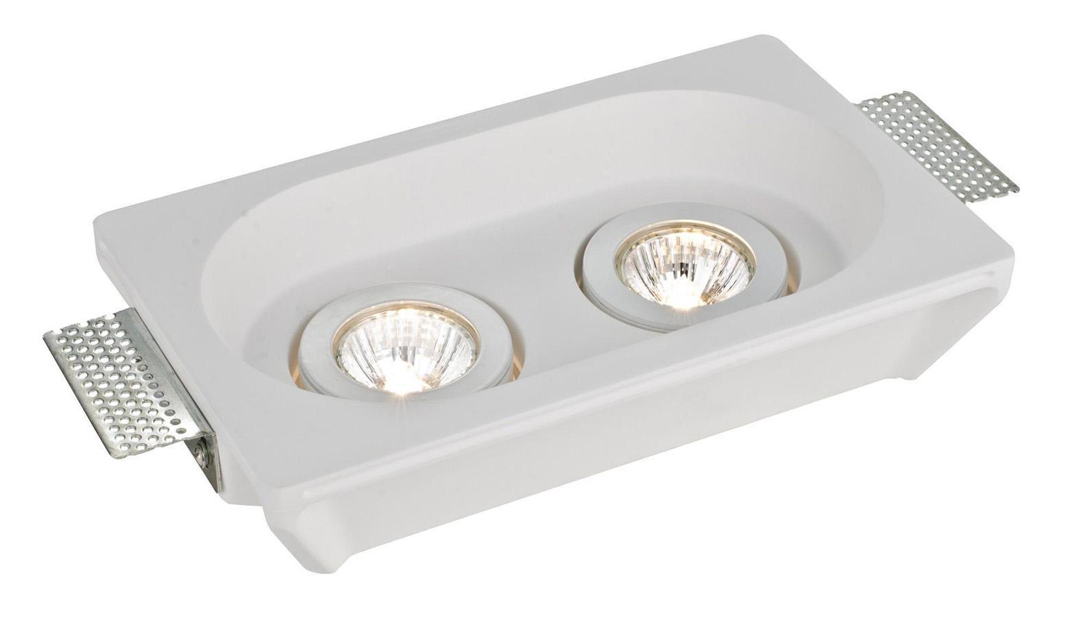 A9215PL-2WH INVISIBLE Встраиваемый светильникA9215PL-2WH2xGU10X35W; Светильник можно красить Материал: Арматура: Гипс Размер: 255x155x55 Цвет: Белый